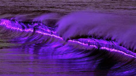 imagenes de paisajes violetas fondo escritorio ola a romper
