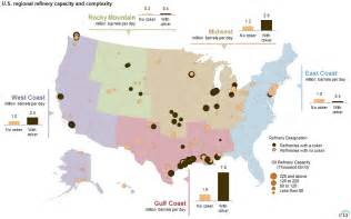 refineries map regional refinery trends evolve to accommodate increased