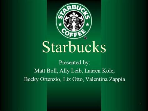 Starbucks Authorstream Starbucks Powerpoint Template
