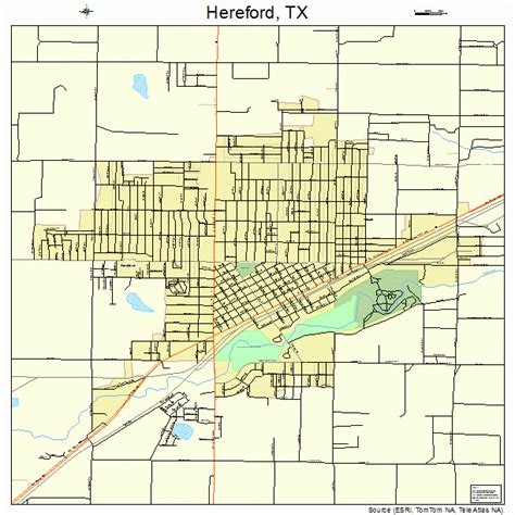 hereford texas map hereford texas map 4833320