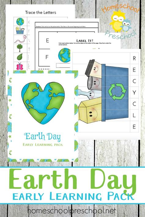 earth day printable worksheets for preschool preschool earth day printable learning pack earth day
