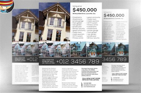 leaflet design for estate agents 10 professional real estate agent brochure templates free