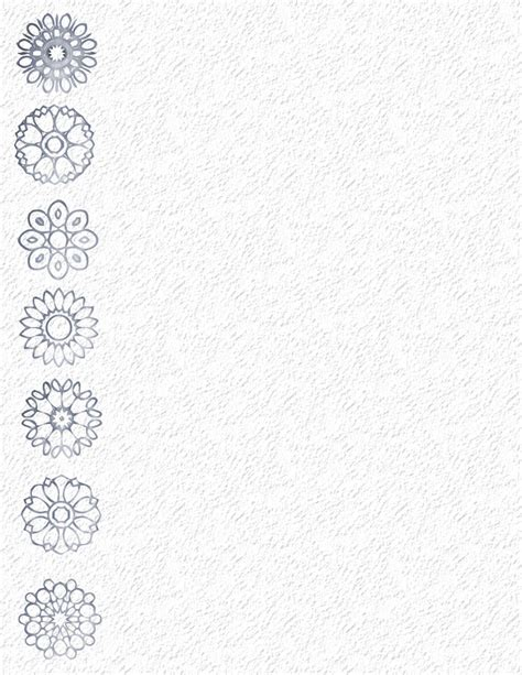 Snowflake Stationery Template Winter Stationery Theme Downloads Pg 1