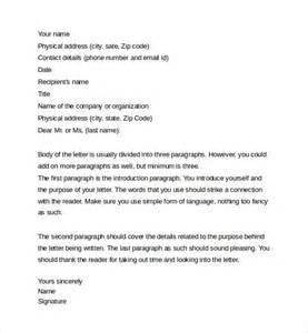 sample professional letter formats 8 download free