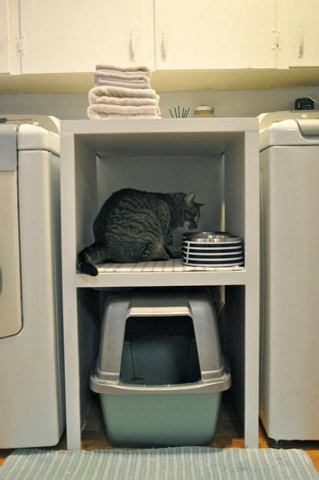 Litter Box In Bedroom by Small Space Laundry Room Storage Pets Are The Best