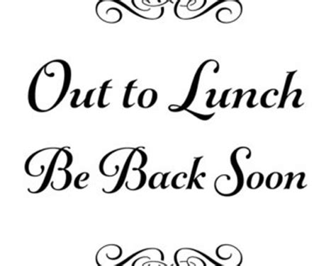 printable sign closed for lunch pictures to pin on