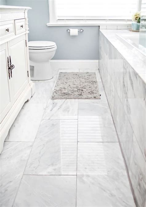 Marble Tile Bathroom Floor 41 Cool Bathroom Floor Tiles Ideas You Should Try Digsdigs