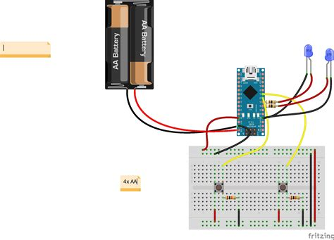 how do i wire a switch to leds on a arduino nano