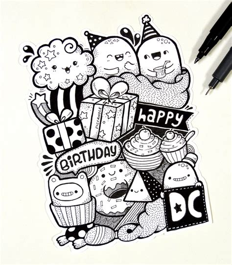 doodle with friends happy birthday design cuts it s design cuts 2nd