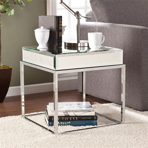 accent living room tables home mirrored quot end table quot living room lounge accent