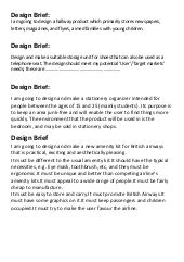 design brief grade 9 technology exles of design briefs