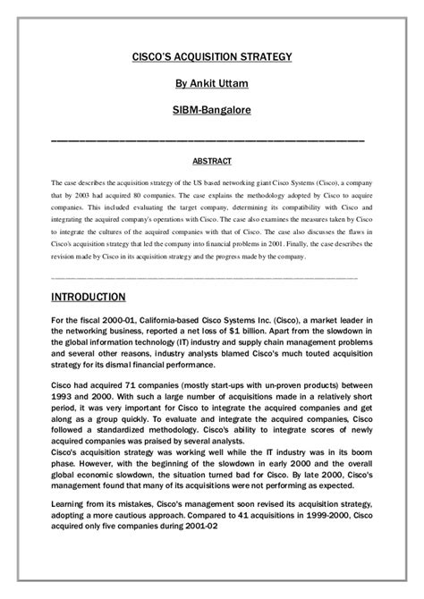 mergers and acquisitions dissertation topics cisco white paper on merger and acquisition
