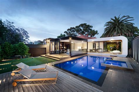 backyard pool house heritage home gets a bold contemporary extension