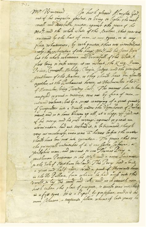 up letter to the king earliest account of gunpowder plot up for auction with