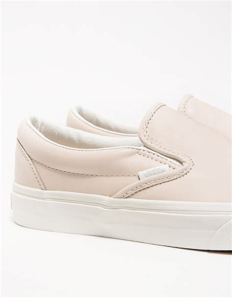 Slip On Pink lyst vans classic slip on leather in pink