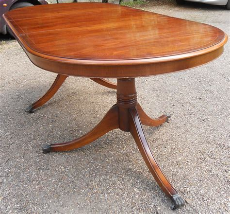 sold mahogany extending dining table to seat ten by bradley