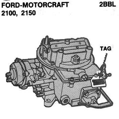 ford motorcraft autolite carb id