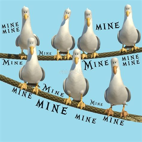 Finding Nemo Wall Stickers quot mine seagulls from finding nemo quot by chloe24k redbubble