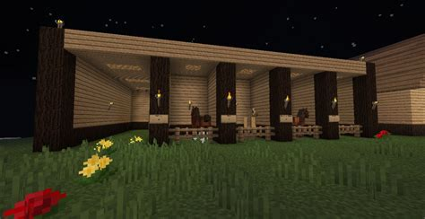How To Make A Small Barn In Minecraft Simply Horses Stables Minecraft Project