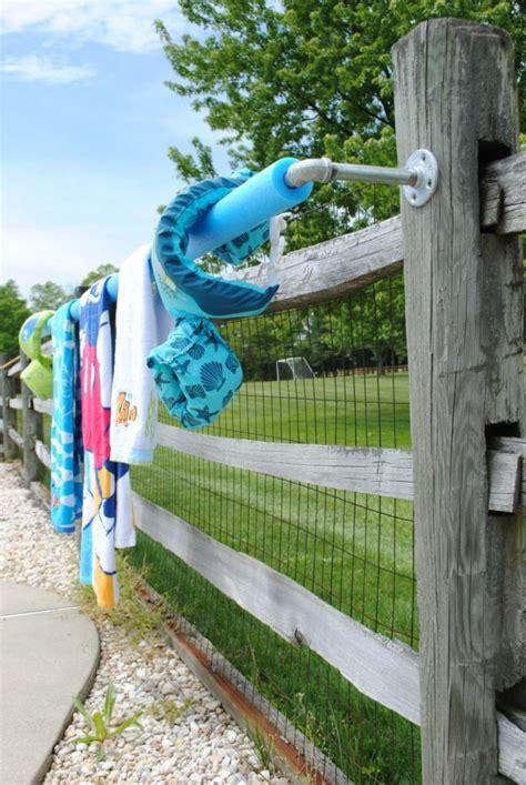 pool towel rack diy in 30 minutes for summer