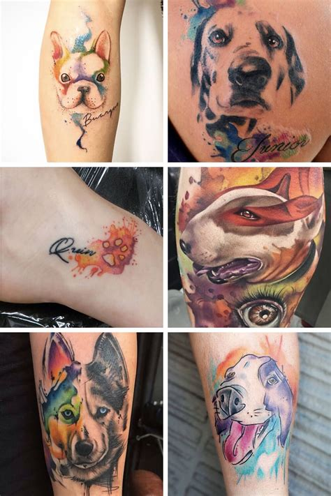 pet tattoos 7 inspiring watercolor ideas for anyone looking