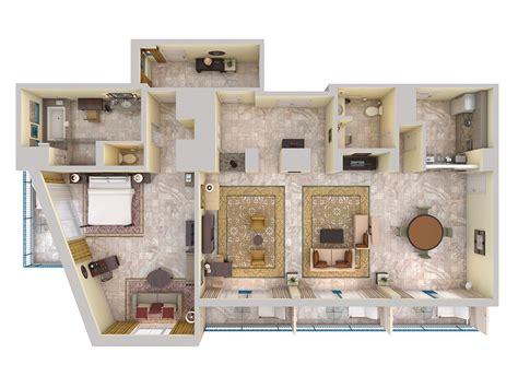 Floor Plan 3d Suite Hilton Barbados Resort S Luxurious Suites