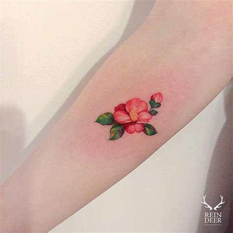 24 beautiful and elegant camellia tattoo designs page 2