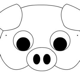 printable pig nose mask pig mask coloring page sketch coloring page