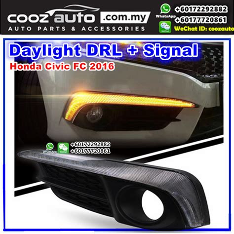 Cover Fogl Drl Honda All New Civic 12 Esuse Hd061 Ims honda civic fc 2016 2018 daylight daytime drl signal fog l cover