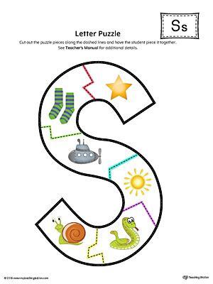 printable alphabet letter puzzles letter s puzzle printable color myteachingstation com
