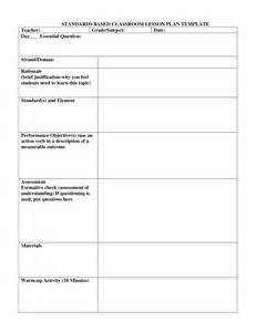 standard lesson plan template search results for lesson plan template special education