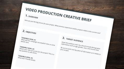 Resources Archives Production Creative Brief Template