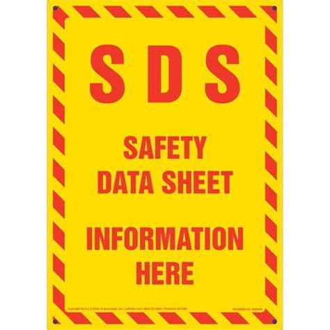 Sds Safety Data Sheet Information Here Sign Sds Binder Template
