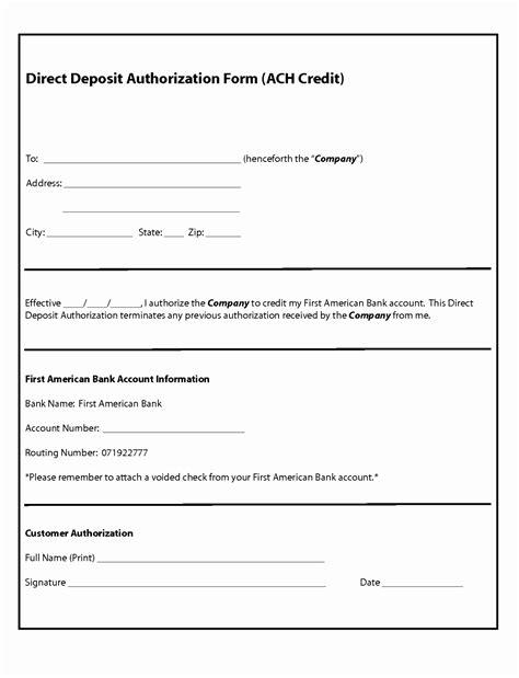 vendor authorization letter format lovely ach form template photos exle resume ideas