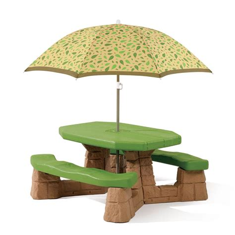 picnic table with umbrella 2 174 naturally playful 174 picnic table with umbrella set