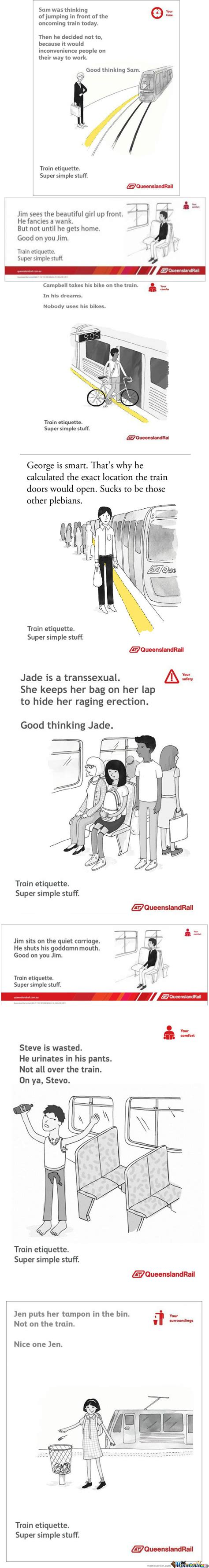 Queensland Rail Meme - queensland rail train etiquette super simple stuff by marcoa84 meme center