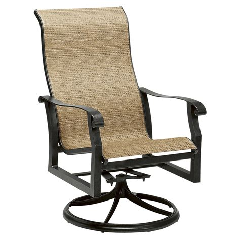 High Patio Chairs - cortland sling black high back swivel rocker dining arm