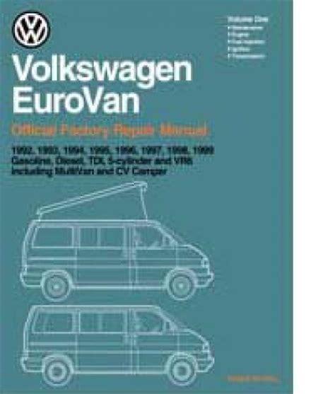 free service manuals online 1992 volkswagen eurovan head up display 1992 1999 volkswagen eurovan printed repair manual