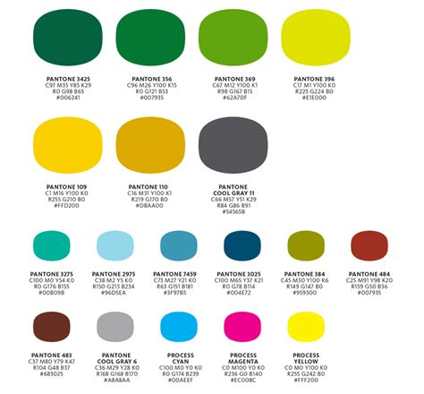 colors style guide of oregon i my