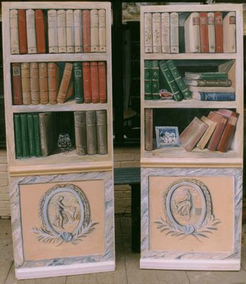 doors that look like a book shelf trompe l oeil by
