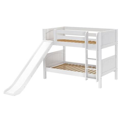 low loft bed with slide maxtrixkids smile wp low bunk bed with straight ladder