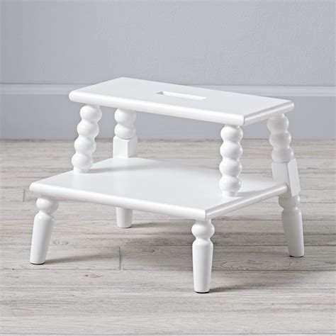 lind white step stool the land of nod
