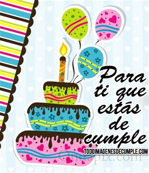 felicitaciones de cumpleanos con torta de colores im 225 genes de cumplea 241 os con torta y globos de colores