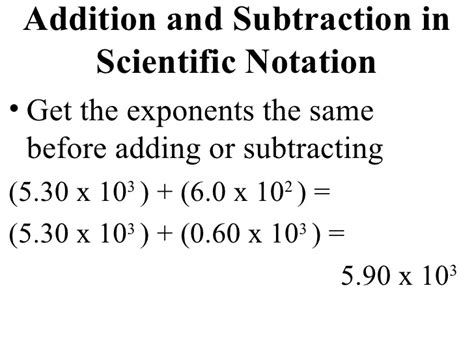 Scientific Notation Worksheet Adding And Subtraction by Scientific Number