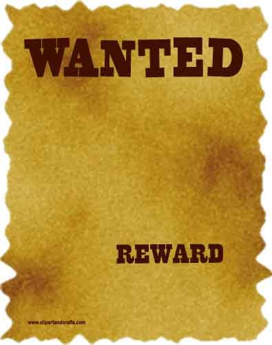 8 best images of free printable wanted posters printable