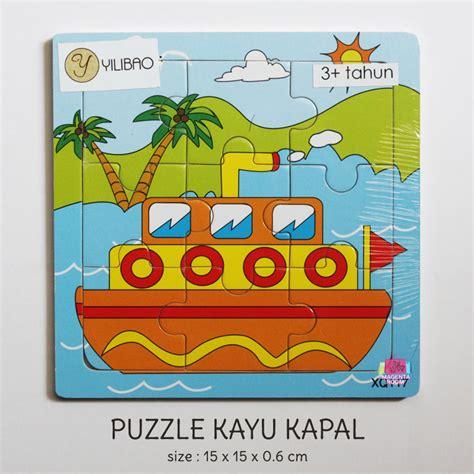 puzzle kayu kapal magenta room