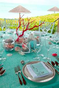 decorative table accents sea inspired table setting and ideas for your beach themed party
