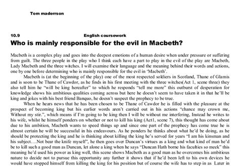Macbeth Evil Essay by Macbeth Evil Essay Psychology Resume And Ginsberg Md Apa Style Essay Vs Evil