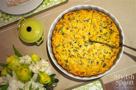 crustless quiche with cottage cheese recipe low crustless spinach quiche stylish spoon