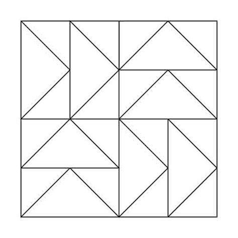 flying geese template flying geese block outline